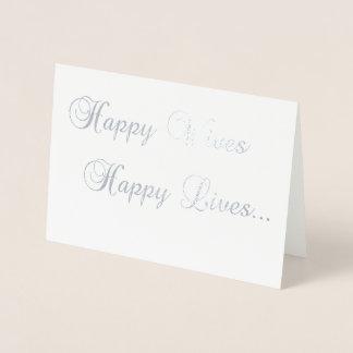 Esposas felizes, casamento lésbica feliz do cartão