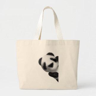 espreitadelas da panda do bebê 3d sacola tote jumbo