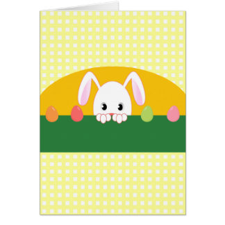 Espreitando o cartão feliz de Ostara do coelho