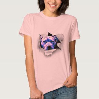 Espreite um pitbull da vaia t-shirt