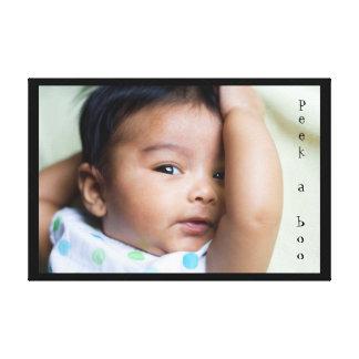 Espreite umas canvas adoráveis do bebê da vaia impressão em canvas