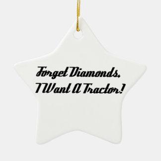 Esqueça diamantes que eu quero um trator enfeites para arvore de natal