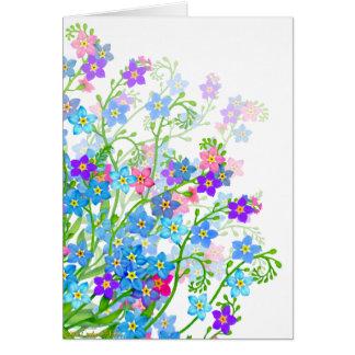 Esqueça-me não cartão das flores do jardim