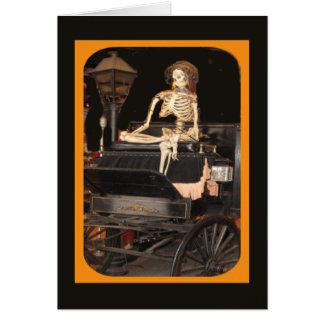 Esqueleto a bordo cartão comemorativo