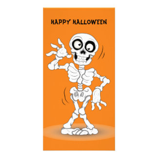 Esqueleto animado do Dia das Bruxas Cartão Com Foto