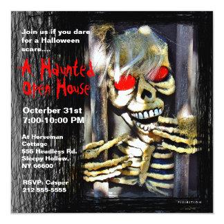 Esqueleto assombrado do convite de festas do Dia