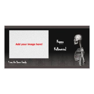Esqueleto - cartão com fotos do Dia das Bruxas Cartão Com Foto
