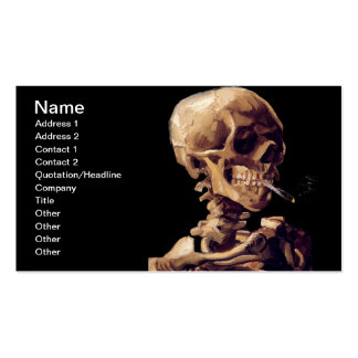 Esqueleto de fumo por Van Gogh Cartão De Visita
