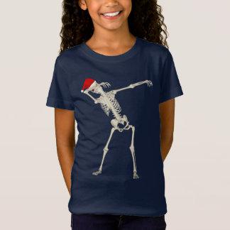 Esqueleto de toque ligeiro do punk do Natal legal Camiseta