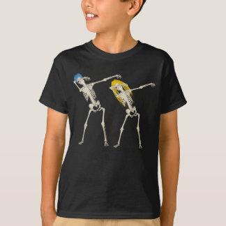 Esqueleto de toque ligeiro legal bonito do punk do camiseta