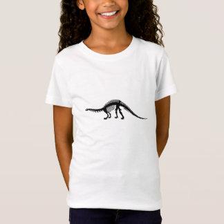 esqueleto do brontosaurus camiseta