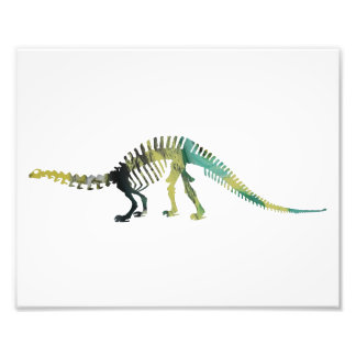 esqueleto do brontosaurus impressão de foto