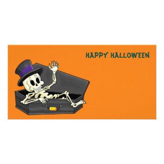 Esqueleto do Dia das Bruxas Cartão Com Foto