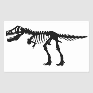 Esqueleto do dinossauro de Rex dos Tyrannosaurs Adesivo Retangular