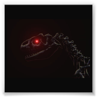 Esqueleto do dinossauro do zombi do vivo impressão de foto