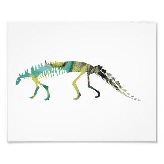 Esqueleto do dinossauro impressão de foto