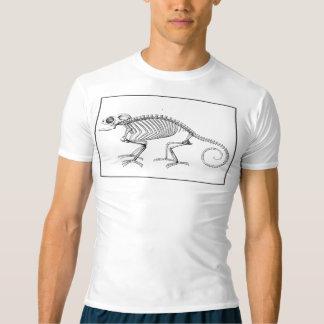 Esqueleto do lagarto do vintage camiseta
