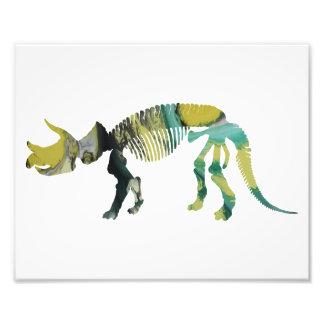 Esqueleto do prorsus do Triceratops Impressão De Foto