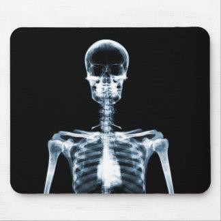 Esqueleto do solteiro do azul da visão do raio X Mouse Pad
