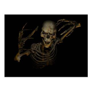 Esqueleto engraçado cartao postal