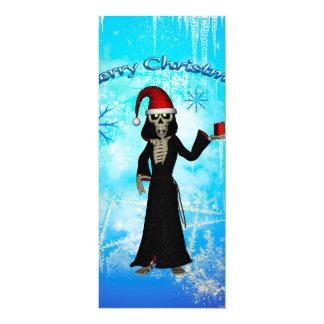 Esqueleto engraçado convite 10.16 x 23.49cm