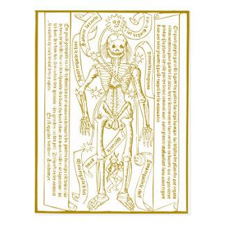 Esqueleto esotérico cartão postal
