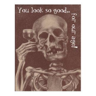 Esqueleto que do divertimento do cartão você olha cartão postal