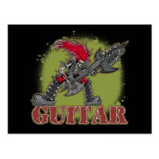 Esqueleto que joga a guitarra elétrica cartão postal
