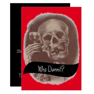 Esqueleto quem Dunnit? Convites do vinho do