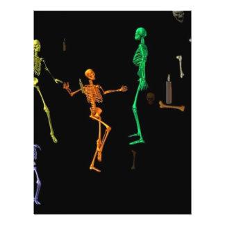 esqueletos 3-D da dança Flyer 21.59 X 27.94cm