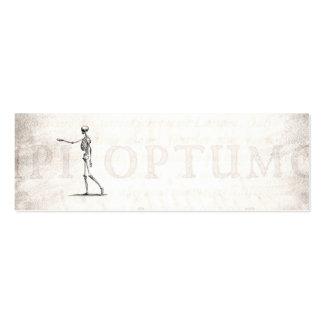 Esqueletos antigos de esqueleto da anatomia dos 18 cartão de visita skinny