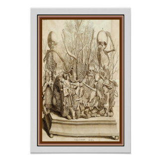 Esqueletos de Frederik Ruysch poster 13 x 19