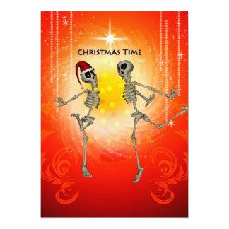 Esqueletos engraçados convite 12.7 x 17.78cm