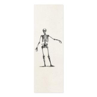 Esqueletos retros de esqueleto da anatomia dos 180 cartão de visita skinny