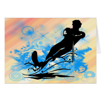 Esqui aquático cartão