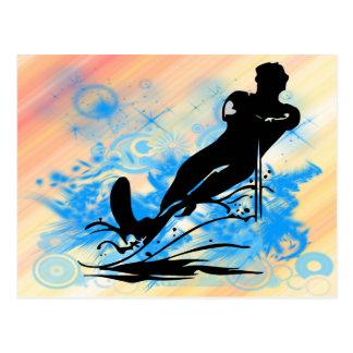 Esqui aquático cartao postal