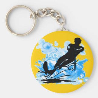 Esqui aquático chaveiros