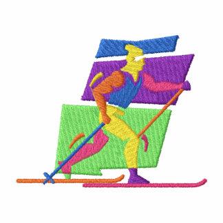 Esquiador através dos campos