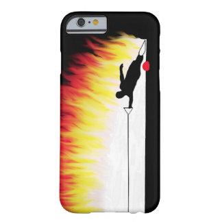 Esquiador da água do slalom com chamas capa barely there para iPhone 6