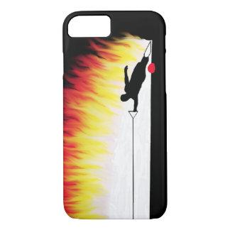 Esquiador da água do slalom com chamas capa iPhone 7