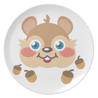 Esquilo & bolotas prato