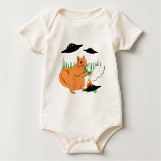 Esquilo contra aliens body para bebê