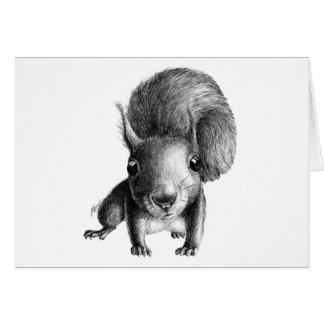 Esquilo curioso cartão comemorativo