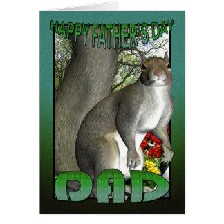 Esquilo do cartão do dia dos pais