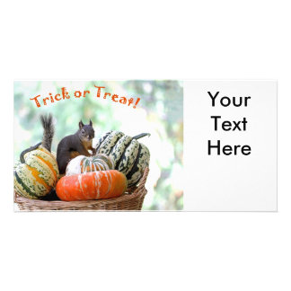 Esquilo do Dia das Bruxas Cartão Com Foto