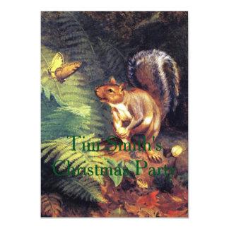 Esquilo e borboleta convite 12.7 x 17.78cm