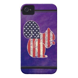 Esquilo engraçado bandeira americana afligida capinhas iPhone 4