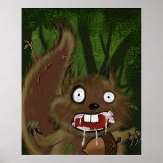 Esquilo irracional impressão