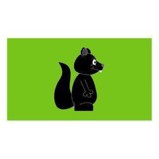 Esquilo no fundo verde cartoes de visitas