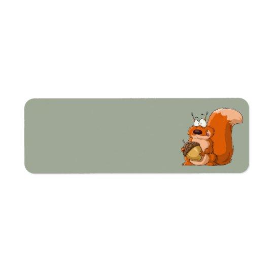 esquilo que guardara etiquetas de endereço da etiqueta endereço de retorno